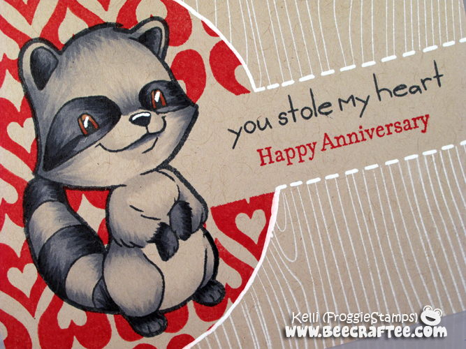 Copic Happy Anniversary Raccoon One Layer 2