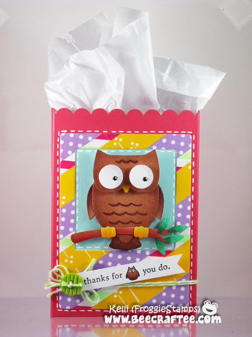 Copic Thanks Owl Gift Bag 1