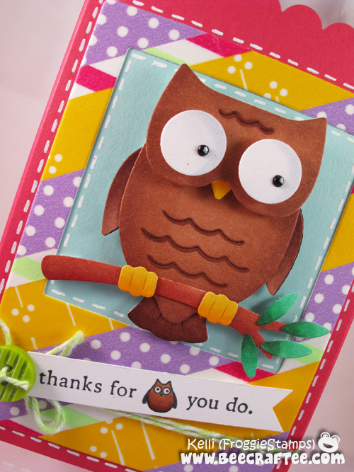 Copic Thanks Owl Gift Bag 2
