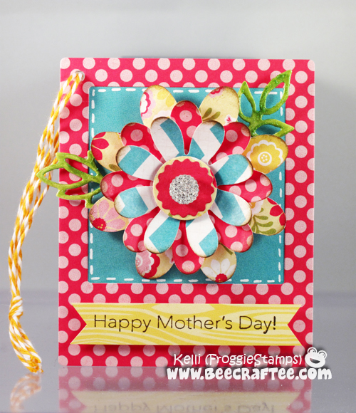 Copic Happy Mother's Day Tag Flower Magnet 1