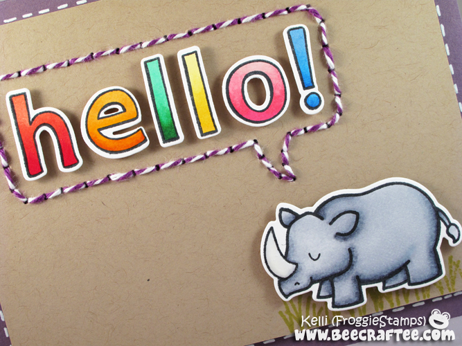 Copic Rhino Hello 2