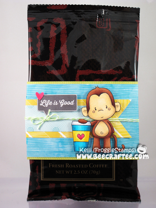 Copic Monkey Life is Good Coffee Sleeve 1