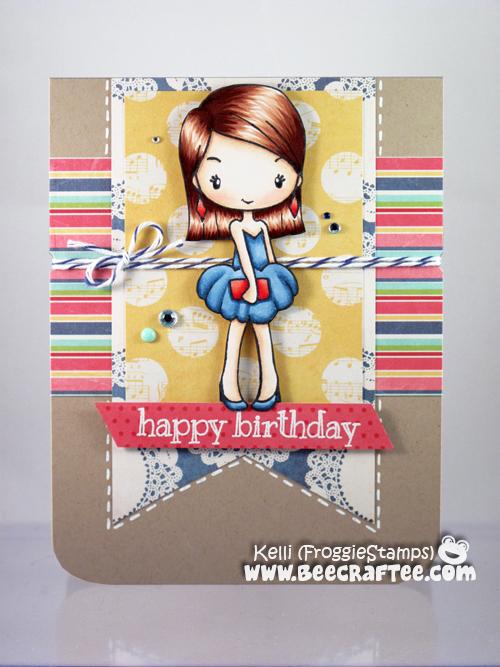 Copic Happy Birthday Dressy Anya 1