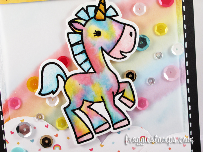 Distress Marker You're Awesome Tie-Dye Unicorn 2