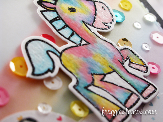 Distress Marker You're Awesome Tie-Dye Unicorn 3