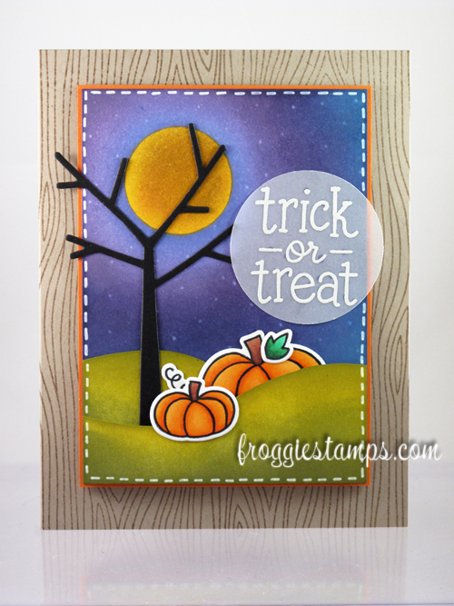 Copic and Distress Ink Trick or Treat 1
