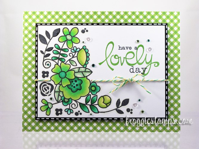 Copic Have a Lovely Day Green Flowers 1