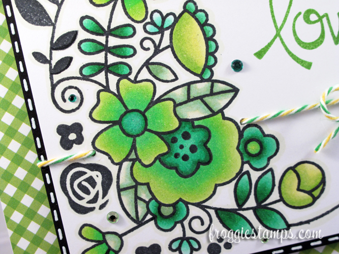 Copic Have a Lovely Day Green Flowers 2