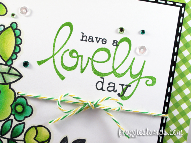 Copic Have a Lovely Day Green Flowers 3