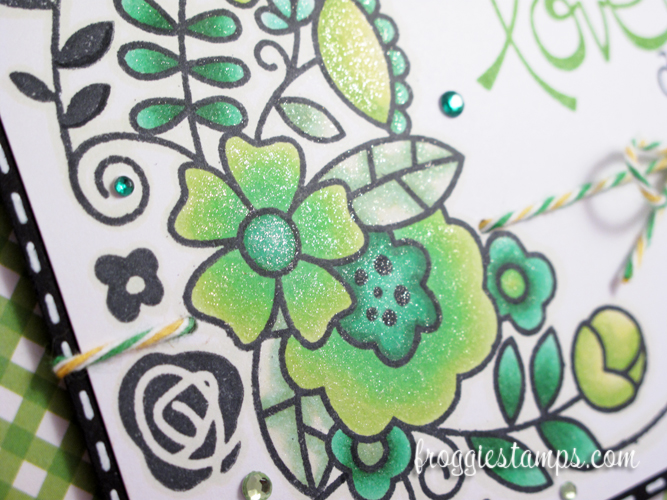 Copic Have a Lovely Day Green Flowers 4