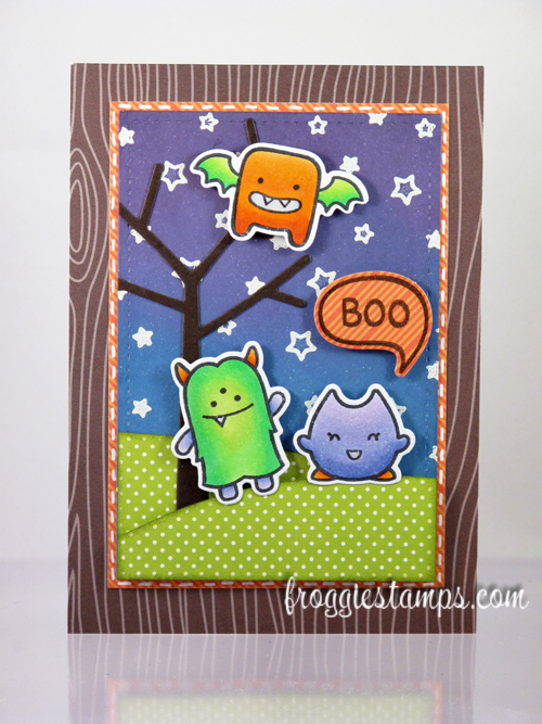 Copic Boo Monsters Scene 1