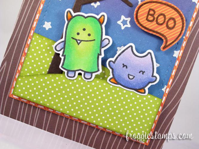 Copic Boo Monsters Scene 3