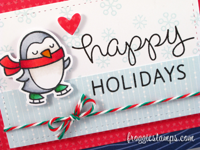 Copic Happy Holidays Snowflakes Penguin 2