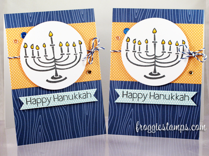 Copic Happy Hanukkah Blue and Yellow 1