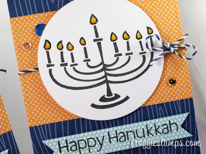 Copic Happy Hanukkah Blue and Yellow 2