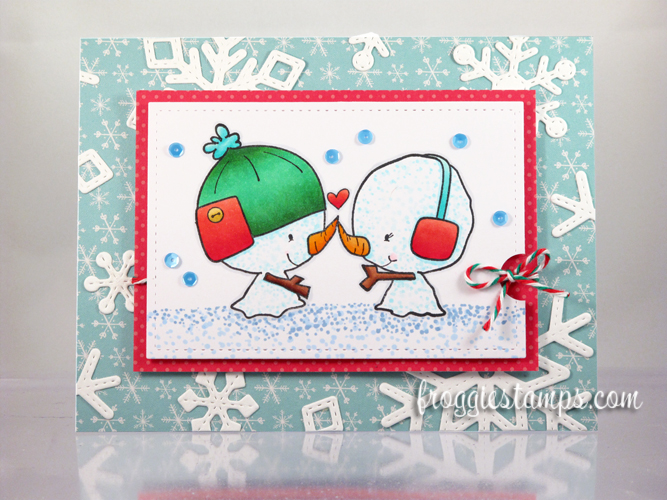 Copic Snowman Christmas Love and Snowflakes 1