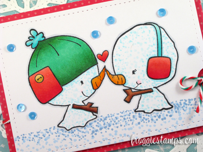 Copic Snowman Christmas Love and Snowflakes 2