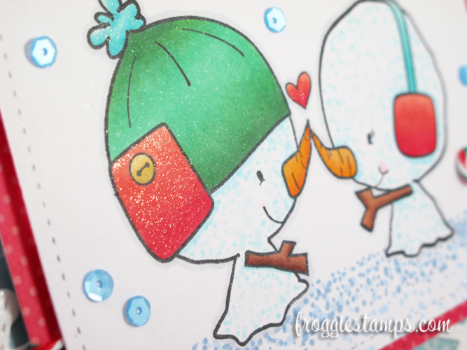 Copic Snowman Christmas Love and Snowflakes 3