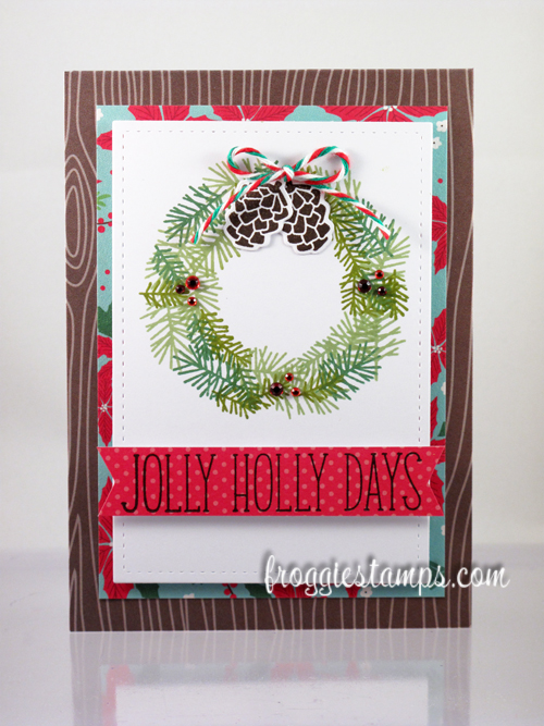 Jolly Holidays Stamped Wreath 1