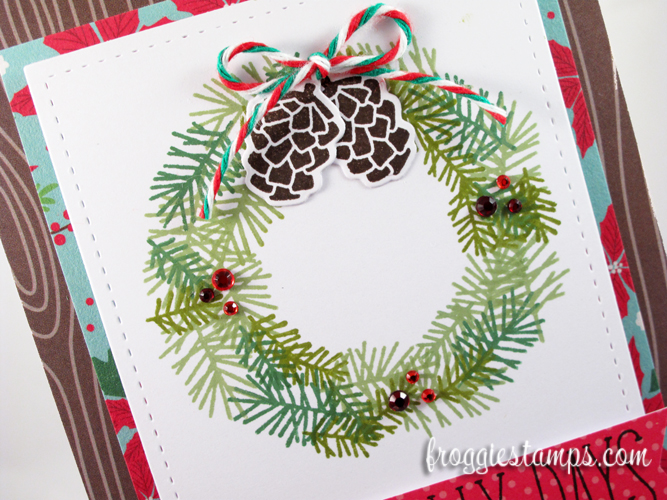 Jolly Holidays Stamped Wreath 2