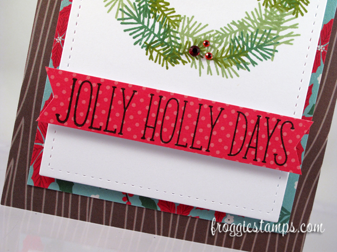 Jolly Holidays Stamped Wreath 3