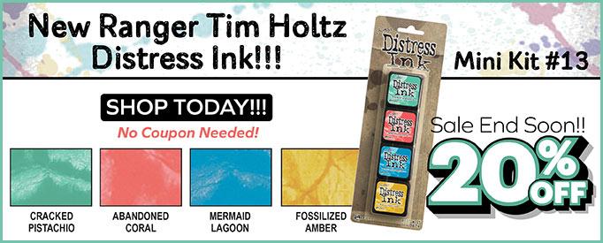 Ranger Tim Holtz Distress Mini Ink Pad Kits - Kit 13