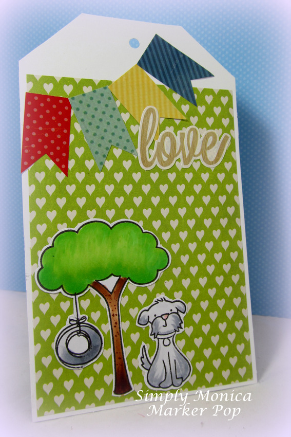 Make a simple tag by Monica Edwards