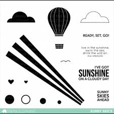 Mama Elephant Sunny Skies Stamp Set